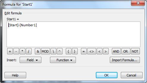 Фиг. 11: Диалога Formula след въвеждането на 1та формула