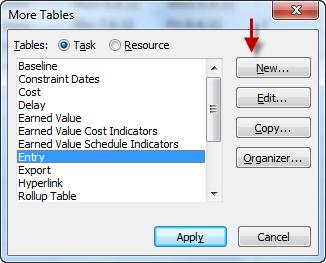 Фиг. 4: Диалога More Tables