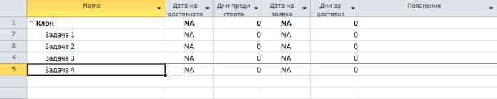 Фиг. 7: Таблица за доставки