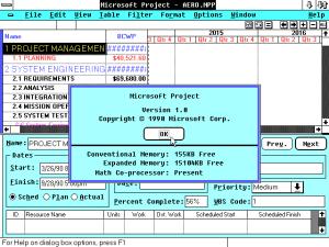 Microsoft Project 1.0, Gantt Chart