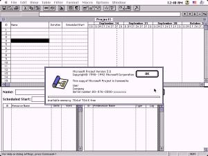 Microsoft Project 3.0 за Macintosh
